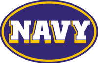 NAVY Oval Magnet