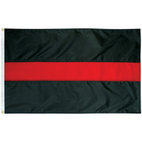 """""""Thin Red Line of Courage"""" Flags"""
