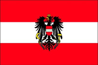 Austria with Eagle - Indoor Flags