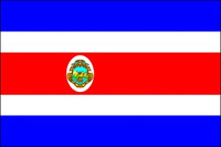 Costa Rica with Seal (UN OAS) - Indoor Flags