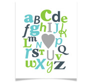 ABC I Heart You Alphabet