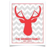 Family Name Chevron Deer