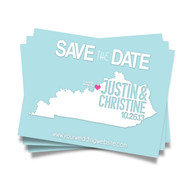 ANY State Map Art  - Save the Date Postcards
