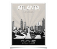 Atlanta Skyline Wedding