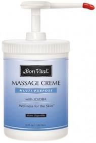 Bon Vital' Multi Purpose Massage Cream Unscented - 36oz Pump
