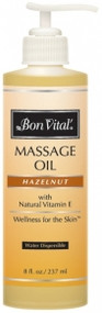 Bon Vital' Hazelnut Massage Oil - 8oz w/Pump