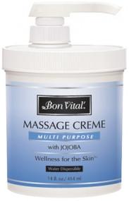 Bon Vital' Multi Purpose Massage Cream Unscented - 14oz Jar