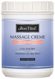Bon Vital' Deep Tissue Massage Cream - 1/2 Gallon