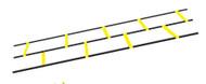 Adjustable flat rungs Ladder
