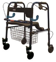 Drive Medical Clever-Lite Walker with Seat and Loop Locks