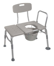Drive Medical K.D. Combination Plastic Transfer Bench/Commode