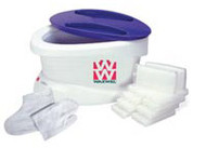 WaxWel Paraffin Bath with 6lb. Wintergreen Paraffin PLUS liners, mitt and botties