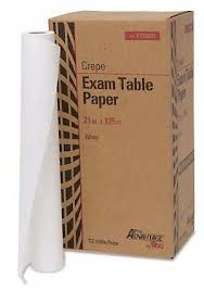 "Exam Table Paper - 21"" x 225ft - White - Smooth 12/Case"