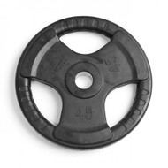 Element Fitness Virgin Rubber Commercial Olympic 3 Grip Handle plate - 45 lbs