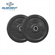 Element Fitness Commercial Black Bumper Plates - 45 lbs