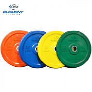 Element Fitness Commercial Colored Bumper Plates - 25 lbs
