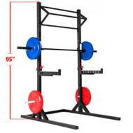 Xtreme Monkey Commercial Squat Stand with Triple Cross Bar