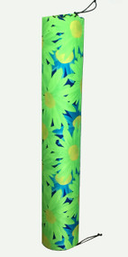 "Exertools 6"" x 36"" Full Foam Roller w/ Flower Cover"
