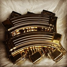 Actual Photo of 24k Plated magazines. Each order is for (1) magazine.