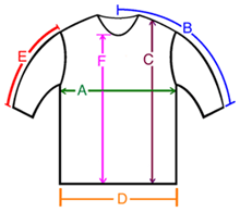 Cotton Clothing Garment Size Chart