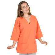 Honeykomb Cotton Tunic Top (183) Tangerine