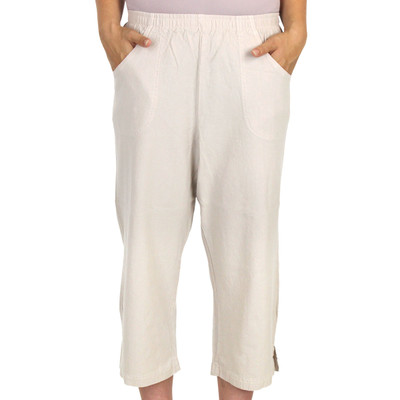 Honeykomb Cotton Capri Clam Diggers Sand