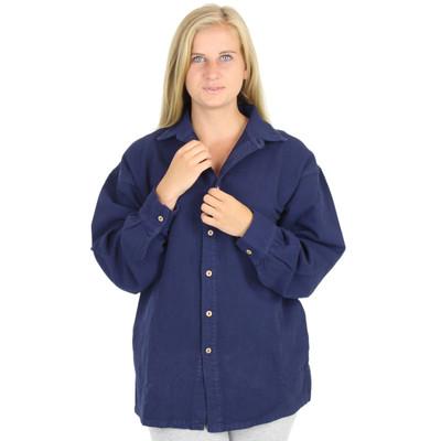 Womens Canton Cotton Shirt AKA Big Easy - Navy