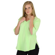 Cotton Gauze Riviera Top (354) LIME FROST