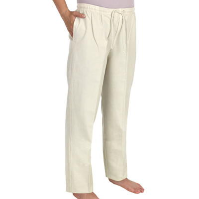 Crinkle Cotton Ankle Pant Flax