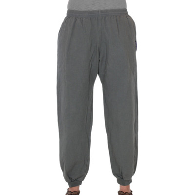 Womens All-Cotton Beefy 8 oz CUFFED SWEAT PANTS - Steel