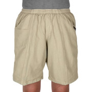 Easy Care 100% Cotton Longer Comfort Shorts - Khaki