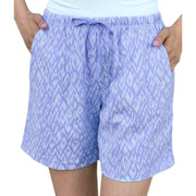 Combed Cotton Printed Jersey Knit Shorts - Peri