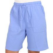 Crinkle Cotton Bermuda Shorts Riviera