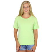 100% Combed Cotton Solid Short Sleeve Tee Honey Dew