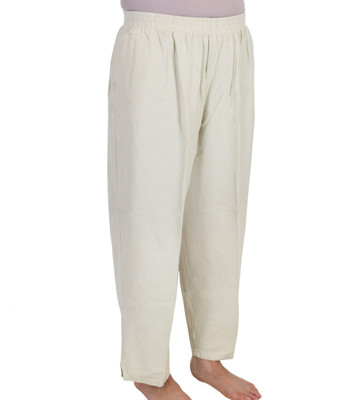 Crinkle Cotton Capri Pants Flax