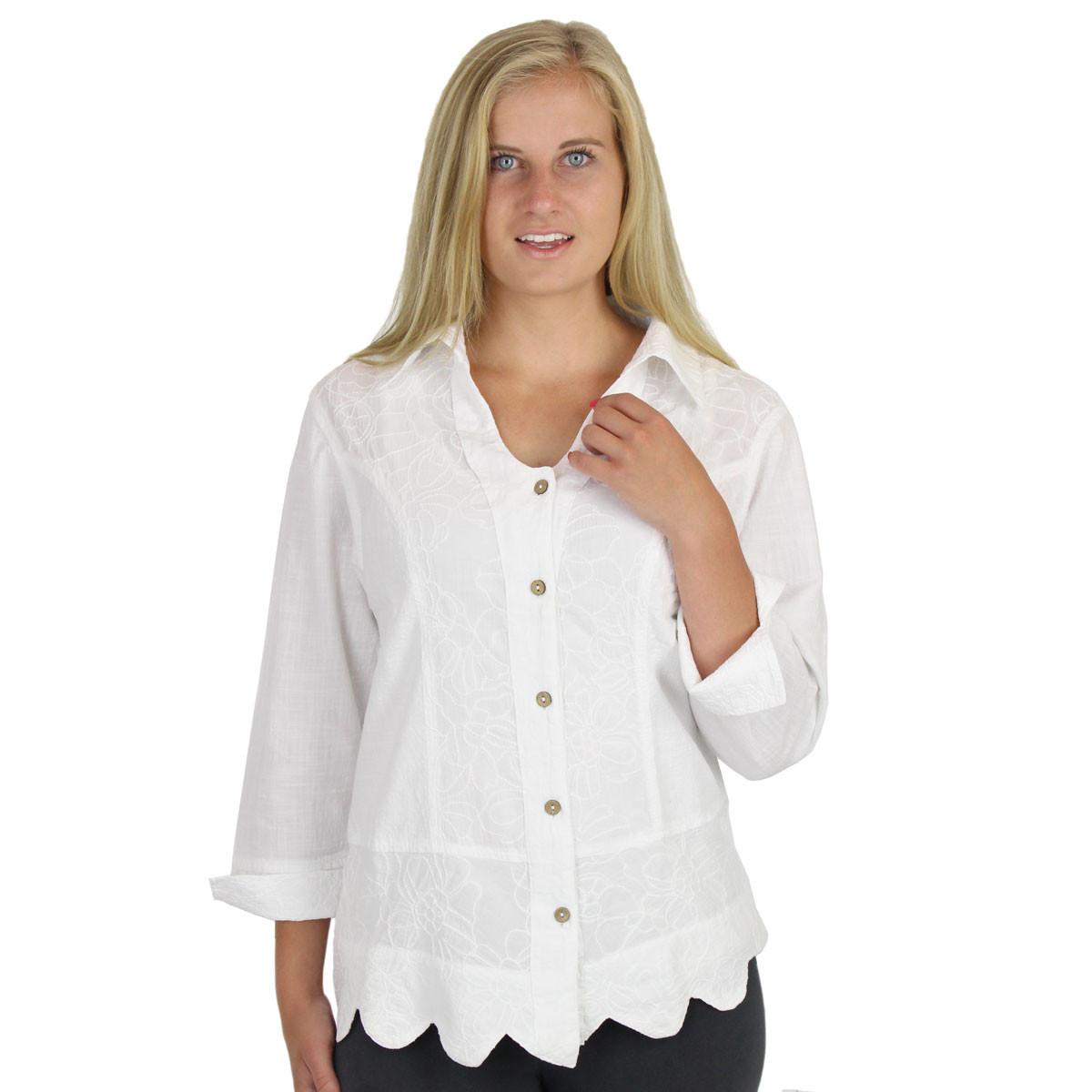 ca09f702d44d48 Embroidered Cotton Shirt Jacket SB-018