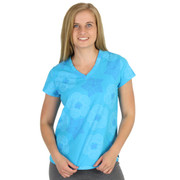 Light Weight Cotton V Neck Women's Tee Shirt Shells (HT6685) Atlantis