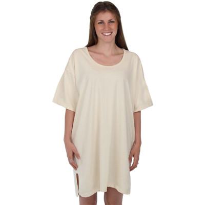 Natural 100% Organic Cotton Night Shirt Hypoallergenic Gender Neutral