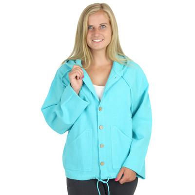 100% Crinkle Cotton Hoodie Jacket Shirt Maui