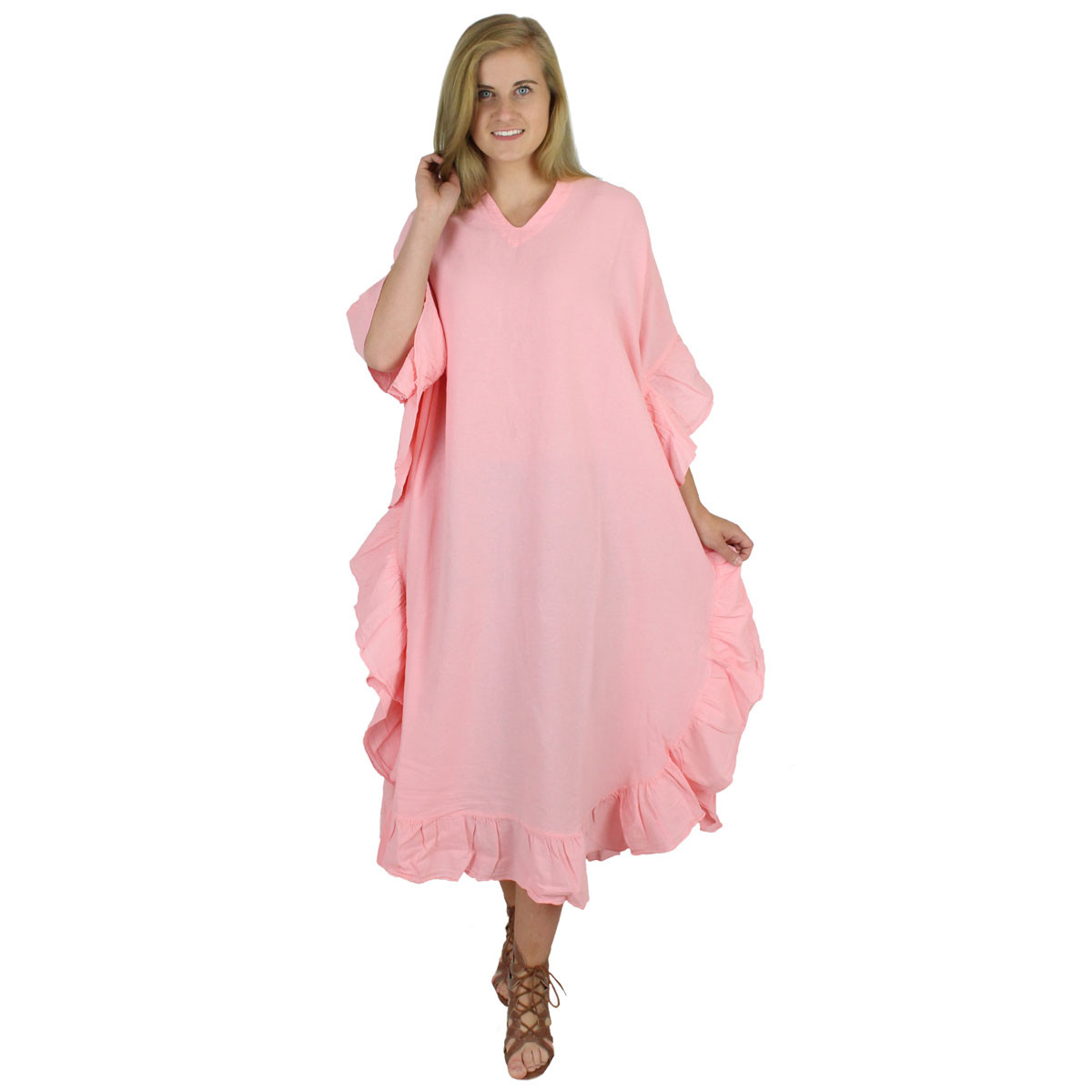 2bd959b86d2 Long Crinkle Cotton Kaftan Dress by Sea Breeze