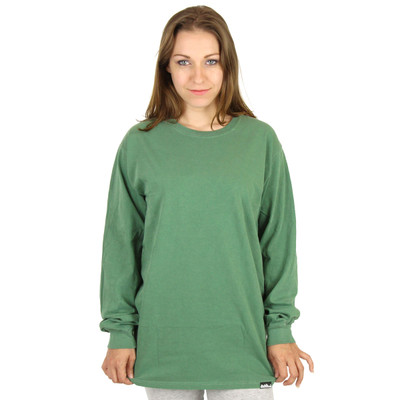 100% Organic Cotton Crew Long Sleeve Tee Womens - 3420 Willow Green
