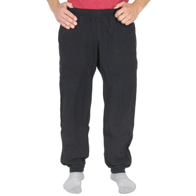 Mens All-Cotton Beefy 8 oz CUFFED SWEAT PANTS Black