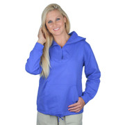 Cotton French Terry Hoodie - FOR LADIES - Blue Iris
