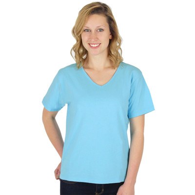 Combed Cotton Tees in Solid Colors - Sky