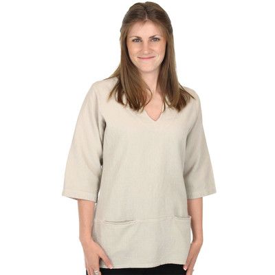 Corded Cotton Abby Top - Sand