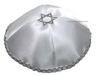 Grey Star of David Kippah
