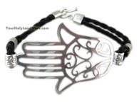 Sterling Silver Protection Hamsa Hand Bracelet