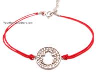 Sterling Silver Red String Kabbalah Bracelet + Hamsa