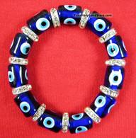 Evil Eye Protection Glass and Zircon Bracelet