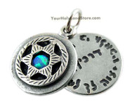 Silver and Opal Protection Pendant with Star of David